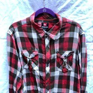 Quiksilver Plaid Men's  Long Sleeve Shirt